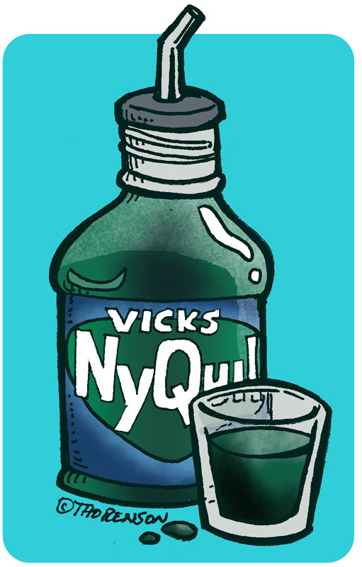 Drink of nyquil bottle a if happens half you what NyQuil and
