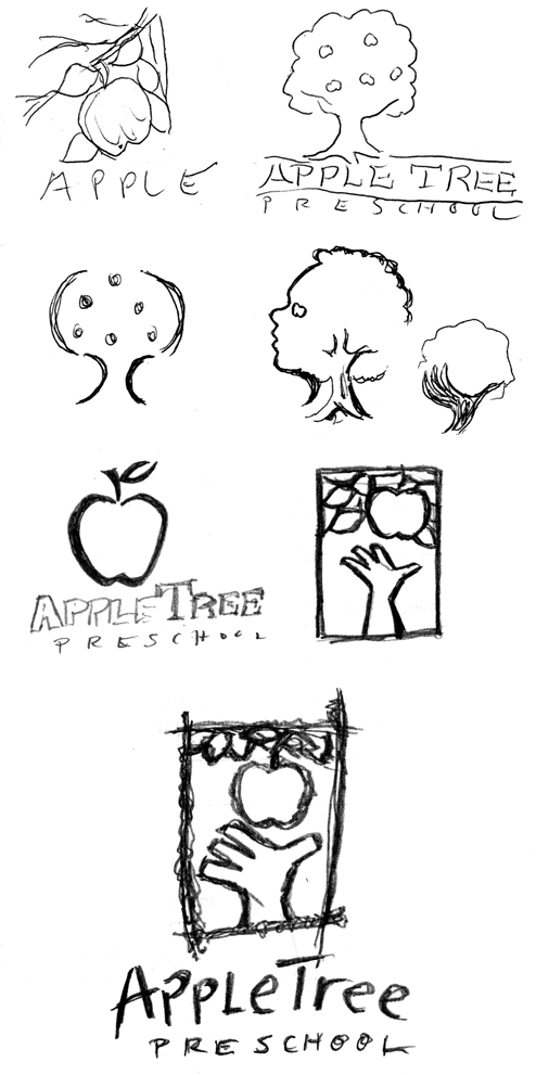 I was striving to find a way to make the apple tree more representative of early childhood development.