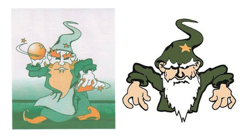 The original Mystic mascot, affectionately named Ian, dates back to 1940