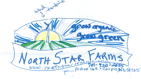 As indicated in this provided sketch, the client had some strong opinions on how they wanted the logo to appear.