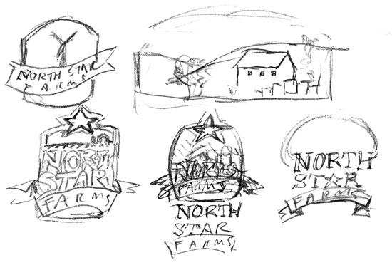 I had some original visions that made the logo much more proportional with more emphasis on the North Star but to no avail.